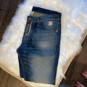 NSF acid washed navy denim boyfriend jeans
